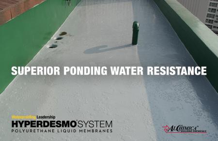 Water ponding resistance - Hyperdesmo