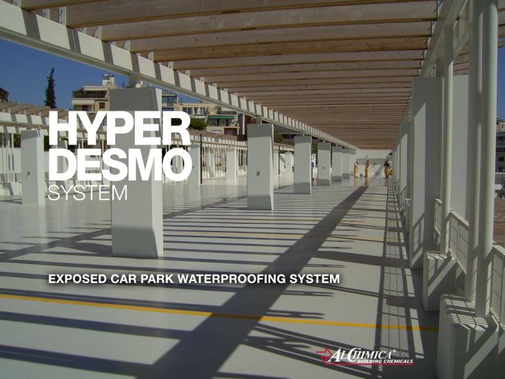 Exposed car park waterproofing system - 1