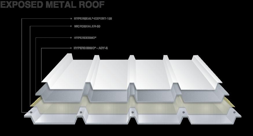 μη οξειδωμένο - Στεγάνωση μεταλλικής οροφής με βάση το HYPERDESMO® System - 1