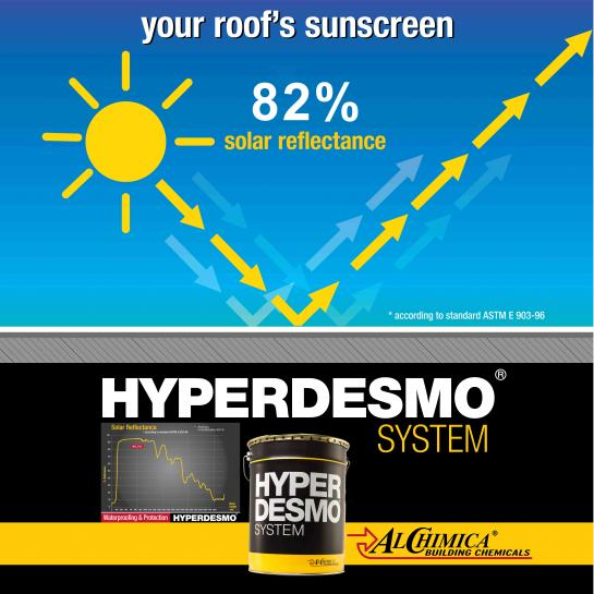 Non Oxidised - Exposed Metal Roof waterproofing based on the HYPERDESMO® System. - 2