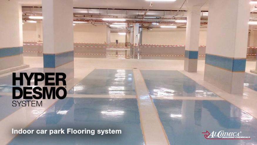 Indoor car park flooring system - 1